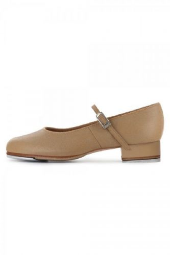 BLOCH Girls Tap Shoes Tap-On in Tan Low Heel Leather Upper S0302G
